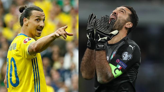 Zlatan Ibrahimovic en Gianluigi Buffon.