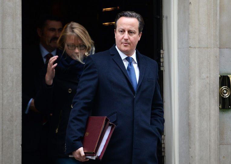 De Britse premier David Cameron. Beeld epa