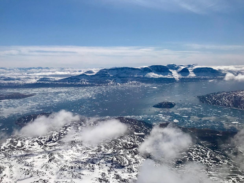 Het poolgebied in Groenland, april 2018.