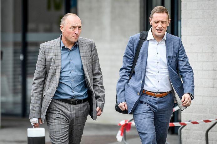 Voorzitter Wouter Vandenhaute en CEO Karel van Eetvelt.