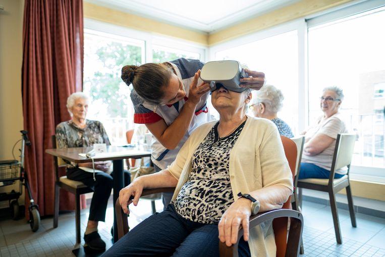 Justine Brouwers test de VR-bril.