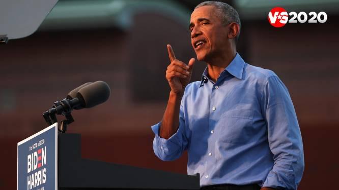 """Ex-president Barack Obama vernietigend voor opvolger Trump in eerste grote campagnespeech: """"Komende dagen zullen onze toekomst voor tientallen jaren bepalen"""""""