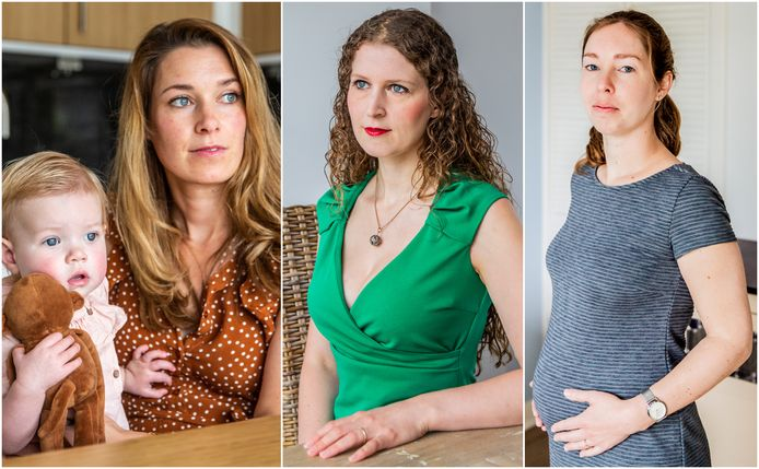 Melanie van Rooijen met Fenna, Annika Sauer en Roxette Lüling.