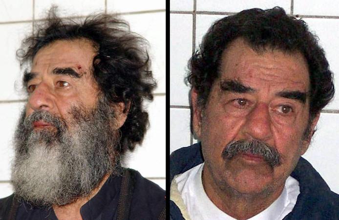 De foto's die het Amerikaanse leger in 2003 naar buiten bracht, na de arrestatie van Saddam Hoessein