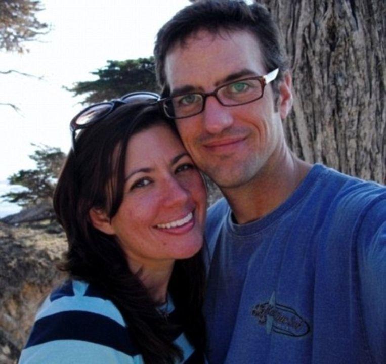 Joni Edelman op vakantie met haar man tijdens haar slanke periode
