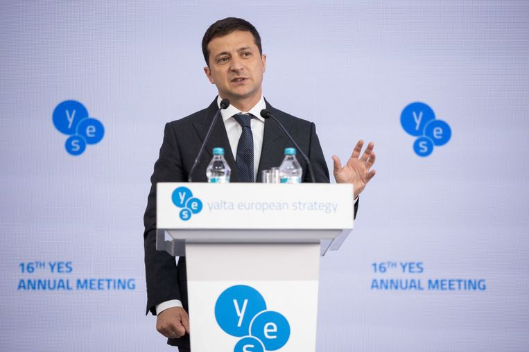 Oekraïens president Volodymyr Zelensky.