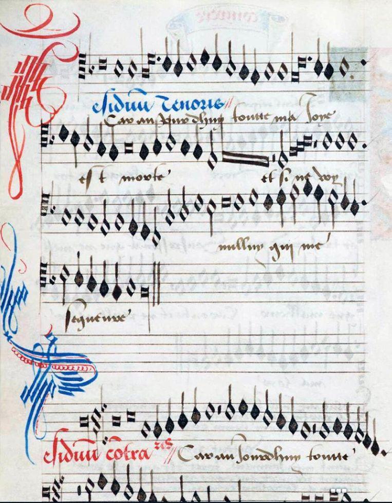 Het meer dan 500 jaar oude manuscript bevat onbekende muziekpartituren.