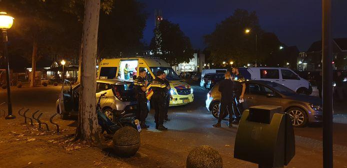 De politie ter plaatse.