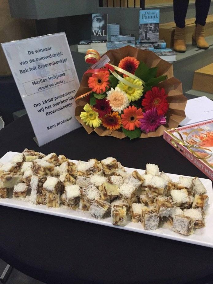 Het winnende koekje van Marlies Haitjema. Foto Waanders