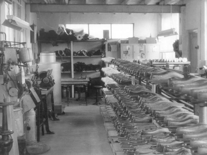 Een blik in de oude fabriek van Loints aan de Gasthuisstraat.