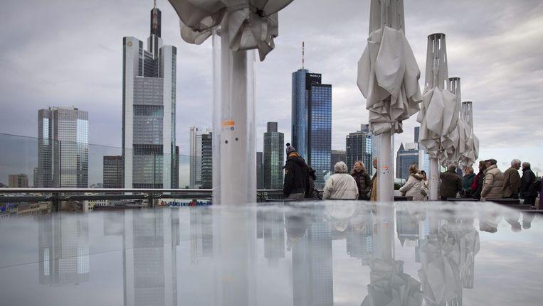 Het financiële district van Frankfurt Beeld epa