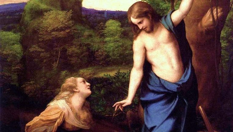 'Jezus en Maria Magdalena' Beeld Antonio da Correggio