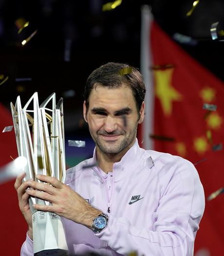 Federer verslaat Nadal vijftiende keer voor titel in Sjanghai