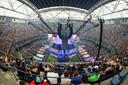 In het stadion van de US Open werd het WK gespeeld. Tienduizenden Fortnite-fans zaten in New York op de tribune.