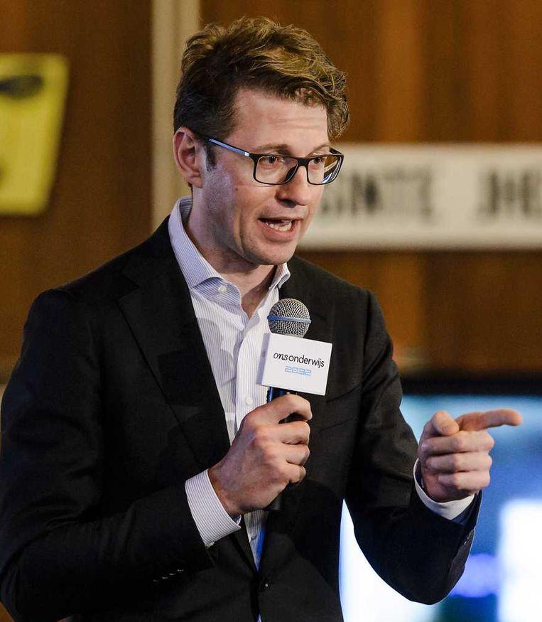 Staatssecretaris Sander Dekker van onderwijs, cultuur en wetenschap. Beeld anp