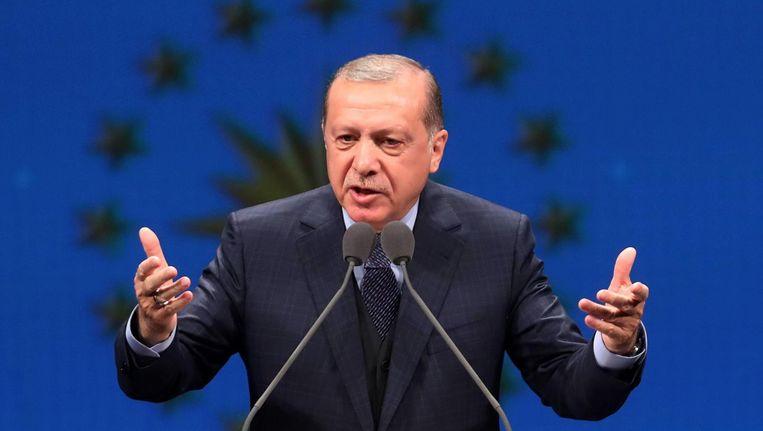 President Recep Erdogan van Turkije. Beeld afp