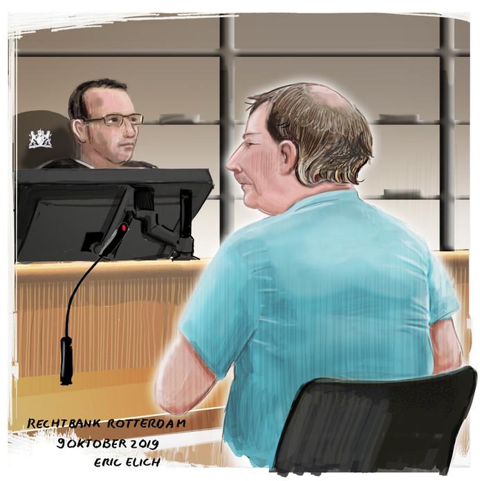 James B. de eerste keer dat hij voor de Rotterdamse rechter stond.