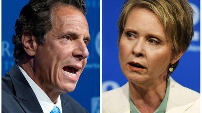 Gouverneur Andrew Cuomo verslaat actrice en activiste Cynthia Nixon in voorverkiezing New York