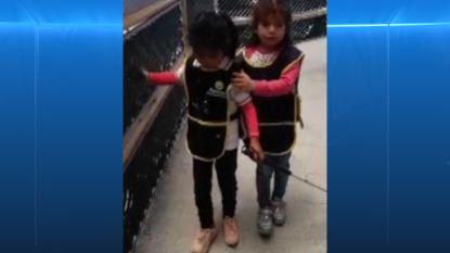 Hartverwarmend: blinde Valentina leert haar vriendinnetje Mia blindenstok te gebruiken
