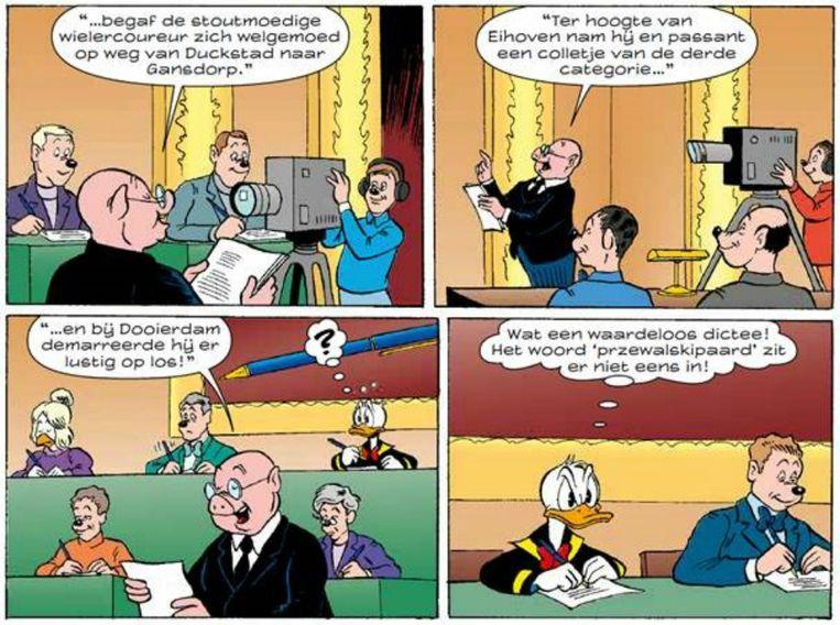 Fragment uit Donald Duck nummer 50, jaargang 63. Beeld Donald Duck