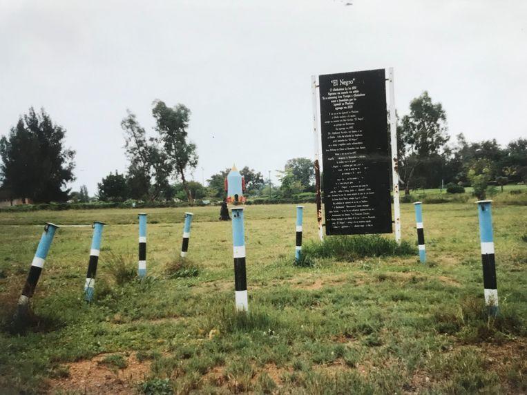 Het graf van El Negro in Botswana. Beeld null