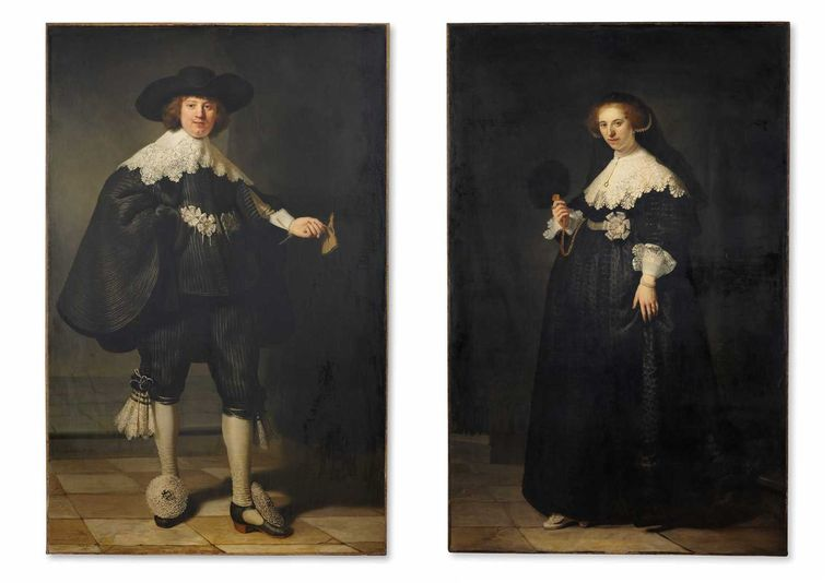 Het Rembrandtkoppel Maarten Soolmans en Oopjen Coppit. Beeld anp