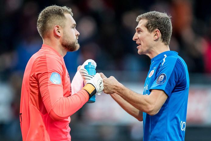 Daniel Schwaab kan bij PSV zondag tegen Sparta voor de 34e keer ongeslagen blijven sinds zijn entree in de eredivisie. Dat lukte in de geschiedenis van PSV alleen Søren Lerby.