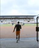 Memphis Depay stond voor het eerst weer op het trainingsveld vandaag.
