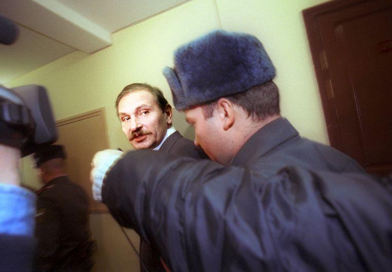 Gloesjkov tijdens zijn proces voor fraude.