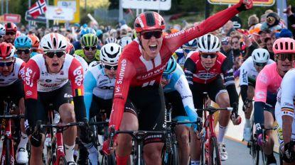Nederlander Bol wint openingsetappe in Ronde van Noorwegen, Evenepoel komt ten val