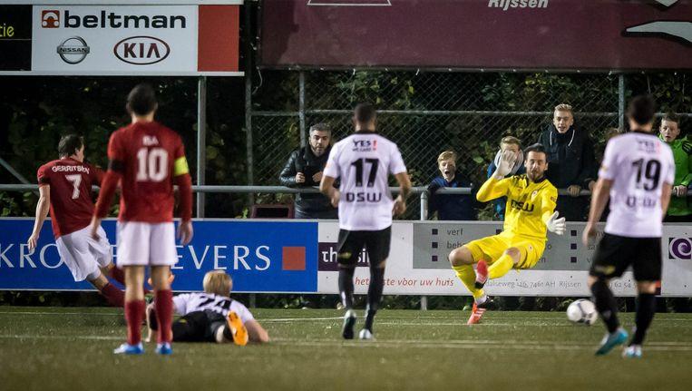 Patrick Gerritsen van Excelsior 31 scoort de 2-2 in de wedstrijd tegen Excelsior Rotterdam Beeld null