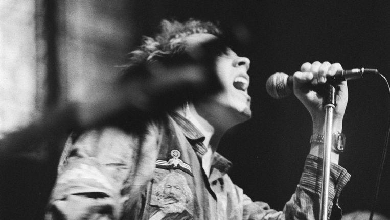 De zanger van de Sex Pistols Beeld Koen Suyk