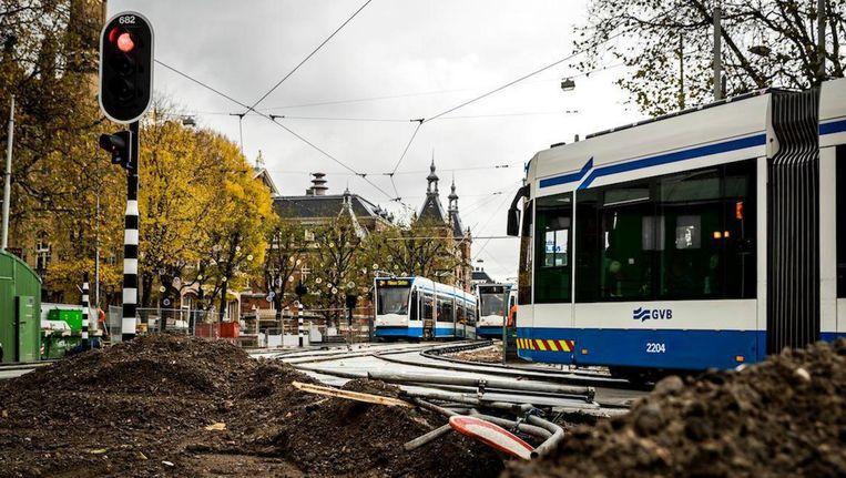 De aanleg van de trambanen en stroomkabels is veel sneller verlopen dan verwacht. Beeld anp