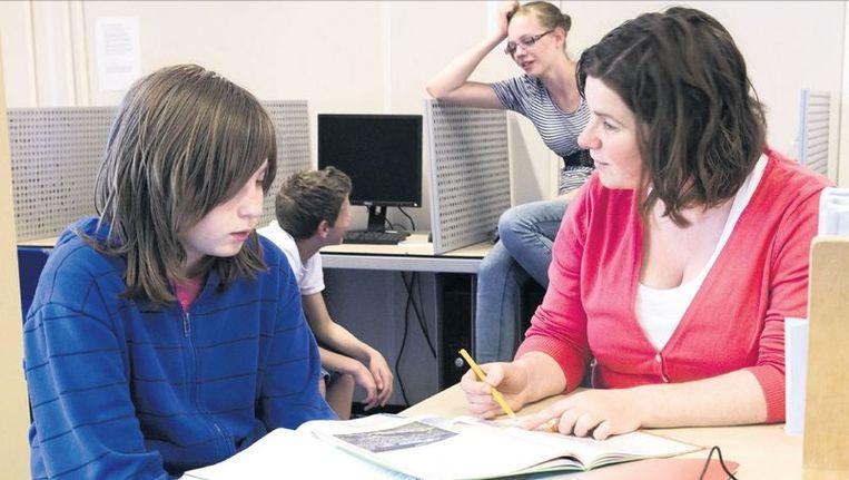 Leerlingen van het Aurum College in Lelystad. Foto: Jörgen Caris Beeld