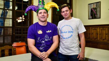 Strijd voor Prins Carnaval barst los: ervaren rot Danny Van Duyssen (49) neemt het op tegen Yarne 'Bib' Vereecken (18)