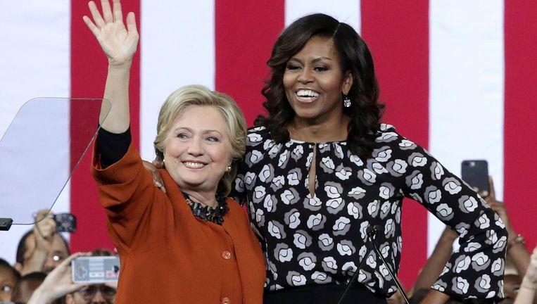 Michelle Obama voert campagne voor Hillary Clinton. Beeld afp