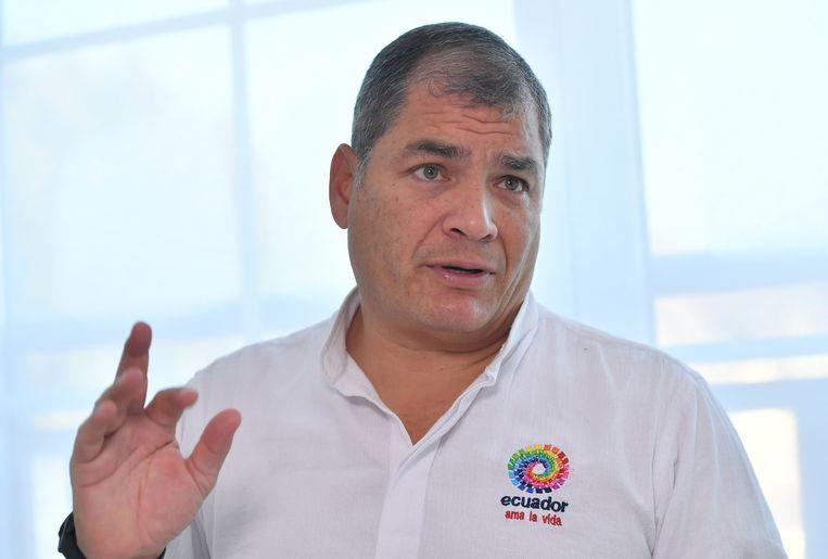 Rafael Correa, de voormalige president van Ecuador.