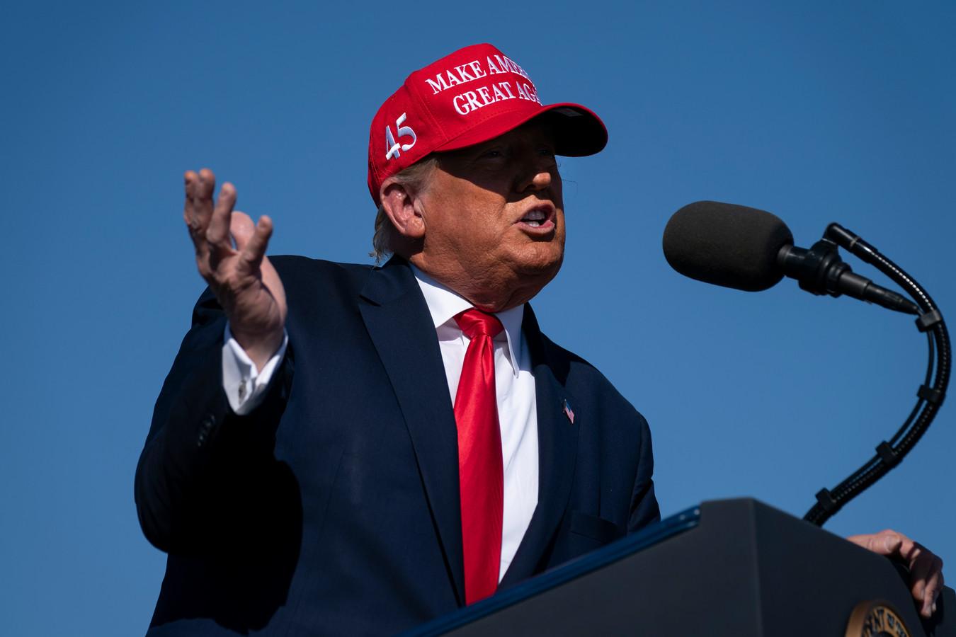 President Trump tijdens zijn bezoek aan Arizona.