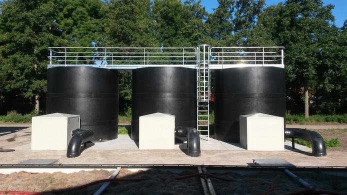 Rioolwaterzuiveringsinstallatie Zeist.