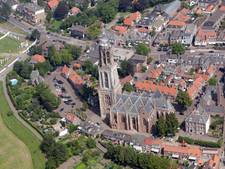 Matrixbord tegen de stadsfiles in Rhenen