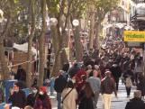 Covid-pandemie? Behoorlijk wat volk op beroemde El Rastro-markt in Madrid