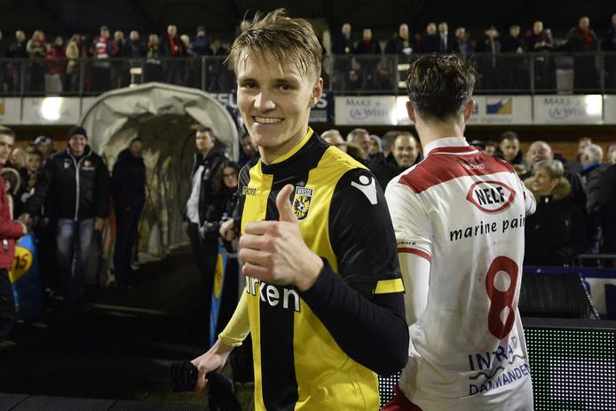 Martin Ødegaard ontpopt zich na een moeizame start tot de sterspeler van Vitesse.