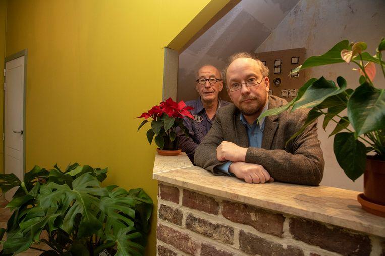 Francis en Marc Michels in het nieuwe KultuurThuis in Melle.