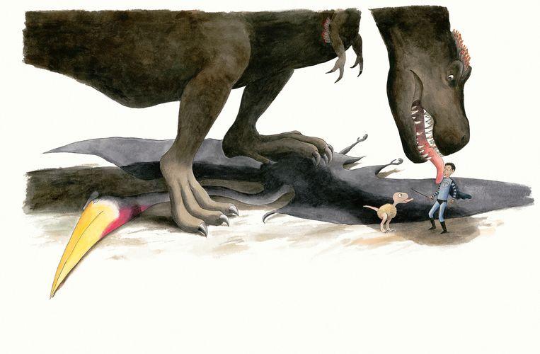 Jake en de T.rex Beeld Thé Tjong-Khing