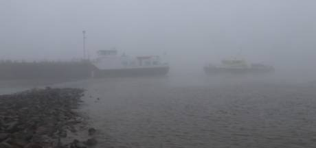 Aanvaring met drie schepen op de Waal bij Heerewaarden