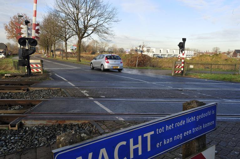 De spoorlijn, het vroegere begin van de bebouwde kom van Oisterwijk.