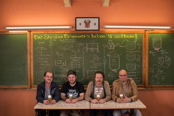 De Struise Brouwers zijn Dion Vandeweghe, Jeroen Steenkiste, Urbain Coutteau en Carlo Grootaert.