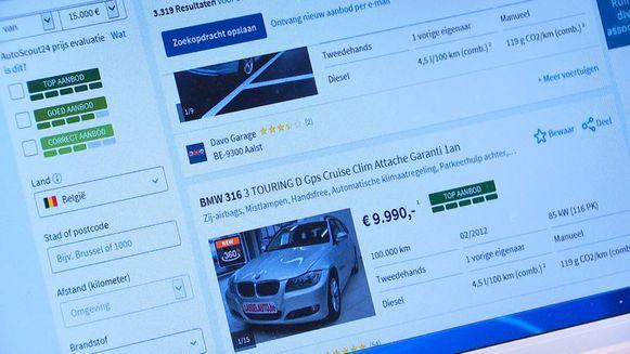De oplichters namen contact op met mensen die hun wagen te koop aanboden op het internet, en stelden voor die te kopen.