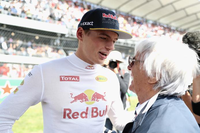 Max Verstappen en Bernie Ecclestone in 2016.