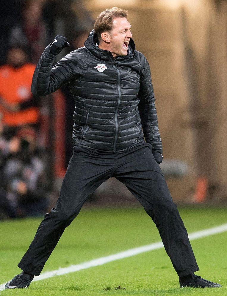 Ralph Hasenhuettl, trainer van RB Leipzig Beeld EPA